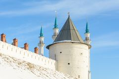 Kazan Ryssland - 23 02 2016: Republik av Tatarstana I Kazan kremlin royaltyfri foto