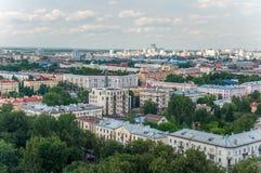 Kazan sikt av staden uppifrån royaltyfri foto