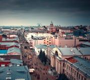 Kazan stadsscape, Tatarstan republik, Ryssland Arkivfoto