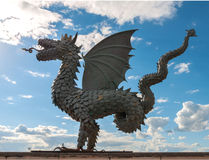 Kazan. Statue of dragon - symbol of the city Kazan. Zilant is a winged snake from Tatar folklore and the official symbol of Kazan since 1730 royalty free stock images