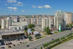 Kazan, Tatarstan, Russia - 21 giugno 2016: Città e strada transitabile Immagine Stock Libera da Diritti