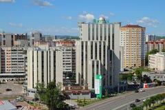 Kazan, Tatarstan, Russia - 21 giugno 2018: Complesso e città dell'hotel Immagine Stock Libera da Diritti