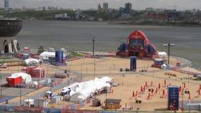Kazan, Tatarstan, Russia - 21 giugno 2018: Smazzi la zona dei tifosi vicino dal centro della famiglia stock footage