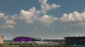 KAZAN, TATARSTAN RUSSIA - july 2017: Kazan Arena stadium, summer clouds time-lapse. Wide angle stock footage