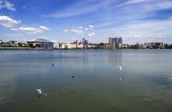 Kazan Tatarstan summer traveling. Kazan Tatarstan 2017 summer traveling wandering journey gulls royalty free stock photos