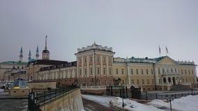 Kazan Κρεμλίνο Ταταρία, Ρωσία Ιστορικές θέες Θέση τουριστών Παλαιά αρχαία πόλη στοκ εικόνες