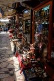 Kazandž iluk Straat, Sarajevo, Bosnië-Herzegovina stock foto