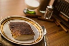 Kazandibi/dessert turco fotografia stock libera da diritti