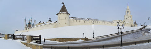 Kazans kremlin no inverno de Rússia Fotografia de Stock Royalty Free