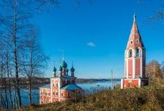 Kazanskaya Church of the Transfiguration in Tutaev. Stock Photo
