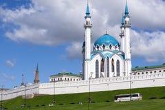 Kazanskaya mechet ` Kul-Sharif Odna iz samykh bol ` shikh mechetey v strane Kazan meczet Kul-Sharif Jeden wielki meczet Zdjęcia Royalty Free