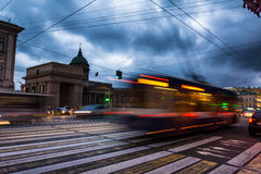 Kazanskiy Cathedral in Saint Petersburg in Russia, long exposure Stock Photography