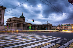 Kazanskiy Cathedral in Saint Petersburg in Russia, long exposure Royalty Free Stock Photography