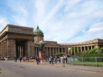 Kazanskiykathedraal in heilige-Petersburg stock afbeeldingen