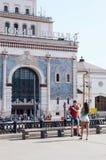 Kazansky火车站 在火车站前面的正方形 建筑师Schusev 1914-1917 莫斯科borokko响铃 免版税库存图片