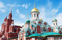 Kazansky Cathedral and Historical museum in Moscow, Russia Stock Photo