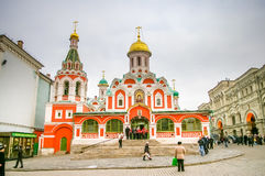 Kazansky Cathedral on the Red Square in Moscow Royalty Free Stock Photography