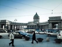Kazansky cathedral in Saint Petersburg Stock Image