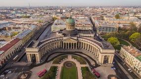 Kazansky-Kathedrale in St Petersburg Stockbild