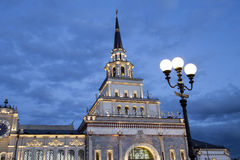 Kazansky railway terminal  Kazansky vokzal at night -- is one of nine railway terminals in Moscow, Russia. Stock Images