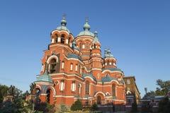 Kazansky Sobor in Irkoetsk, Russische federatie stock foto's