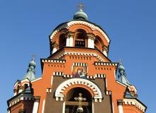 Kazansky Sobor in Irkoetsk, Russische federatie royalty-vrije stock afbeelding