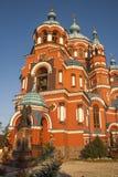 Kazansky Sobor a Irkutsk, Federazione Russa Fotografie Stock Libere da Diritti