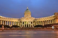 Kazanskykathedraal in St Petersburg Rusland stock afbeelding