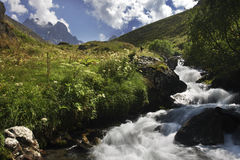 kazbegi de juta de chaukhi Photographie stock libre de droits