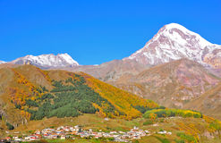 Kazbegi Georgia Immagine Stock