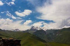 Kazbegi szczyt Obrazy Royalty Free