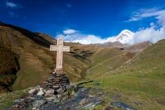 Kazbek berg Fotografering för Bildbyråer