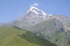 Kazbek mountain in Georgia Royalty Free Stock Photography