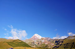 Kazbek panorama royaltyfria bilder