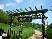 Kaze ingen trädgårds- blåsig trädgård Arkivfoto