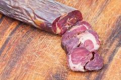 Kazi coupé de saucisse de viande de cheval Photo libre de droits