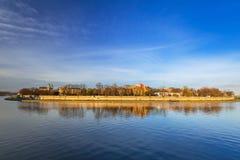 Kazimierz district of Krakow at Vistula river. Poland Royalty Free Stock Photos