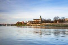 Kazimierz district of Krakow at Vistula river. Poland Stock Images