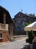 Kazimierz District van Kracow vroeger het Joodse Gebied van de stad in Polen royalty-vrije stock foto