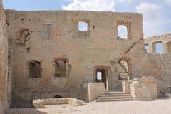Kazimierz Dolny, de ruïnes van het kasteel Stock Fotografie