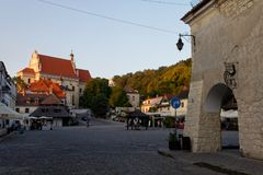Kazimierz Dolny, Lubelskie, Poland. Kazimierz Dolny - one of the most romantic and atmospheric small towns in Poland. Its charming and beautiful, hostsa film royalty free stock photos