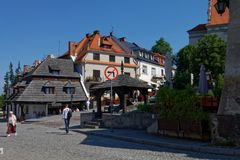 Kazimierz Dolny, Lubelskie, Poland. Kazimierz Dolny - one of the most romantic and atmospheric small towns in Poland. Its charming and beautiful, hostsa film royalty free stock image