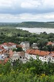 Kazimierz Dolny, Poland. Kazimierz Dolny and Vistula river viewed  from the Three Crosses Hill Stock Photos