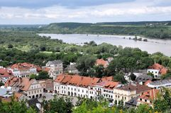 Kazimierz Dolny, Poland. Kazimierz Dolny and Vistula river viewed  from the Three Crosses Hill Royalty Free Stock Image