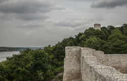 Kazimierz Dolny, Poland - the castle. This image shows a view of Kazimierz Dolny, a small town in Poland, Europe. It was taken in June 2017 on a beautiful sunny Stock Photo