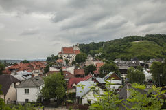 Kazimierz Dolny, Poland - the hills. This image shows a view of Kazimierz Dolny, a small town in Poland, Europe. It was taken on a gloomy day in June 2017 Royalty Free Stock Photography