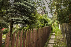 Kazimierz Dolny, Poland - a path. This image shows a view of Kazimierz Dolny, a small town in Poland, Europe. It was taken in June 2017 on a beautiful sunny day Royalty Free Stock Images