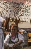 Kazimierz Dolny, Poland - street market/lace. Stock Images