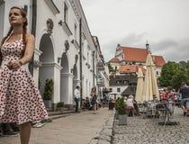 Kazimierz Dolny, Poland - a street in the town/a church. Stock Image