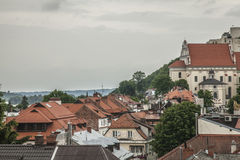 Kazimierz Dolny, Poland - the view. This image shows a view of Kazimierz Dolny, a small town in Poland, Europe. It was taken on a gloomy day in June 2017 Stock Image